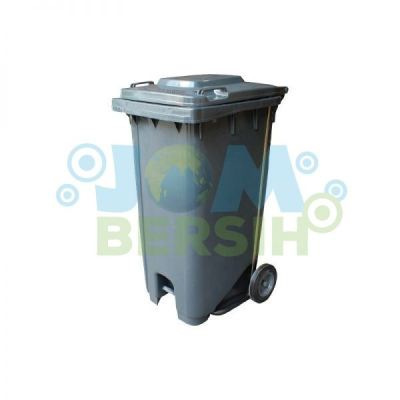2 Wheel Waste Bin - Mobile Garbage Step on Bins (Grey)