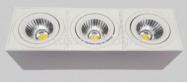 Oritz ESQ83-3L 3x10W Rectangular LED Surface Downlight / Ceiling Mounted Light