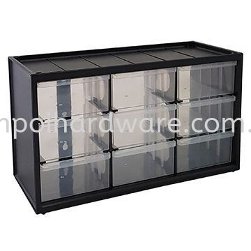 Parts Storage Drawer Cabinets - M9DII - Dimensions 365 L x 155 B x 213 H mm Rack Storage Drawers Storage Boxes