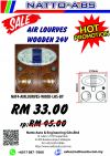 Clearance Stock Promotion - Air-Cond Louver Wooden