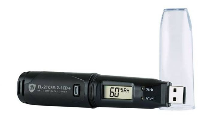 21CFR High Accuracy Temp & RH Data Logger EL-21CFR-2-LCD+