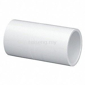 PVC Pipe Socket (White)