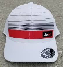 Ping G410 Striped Flexfit Tech 110 One Ten Adjustable Limited Edition Cap White/Red/Black 2019/2020 SeriesGolfing Hat
