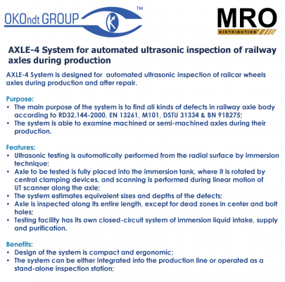 AXLE-4 System for Automated Ultrasonic Inspection of Railway Axles During Production