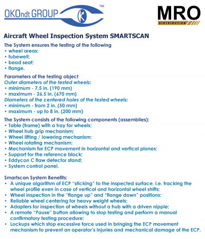 SMARTSCAN Aircraft Wheel Inspection System