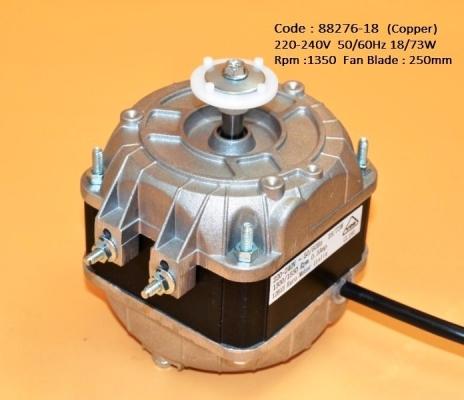 Code: 88276-18 Fan Motor 4Q 18W Euro Type 240V
