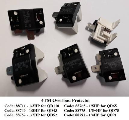 Code: 88752 Overload Protector 4TM 1/7HP QD52