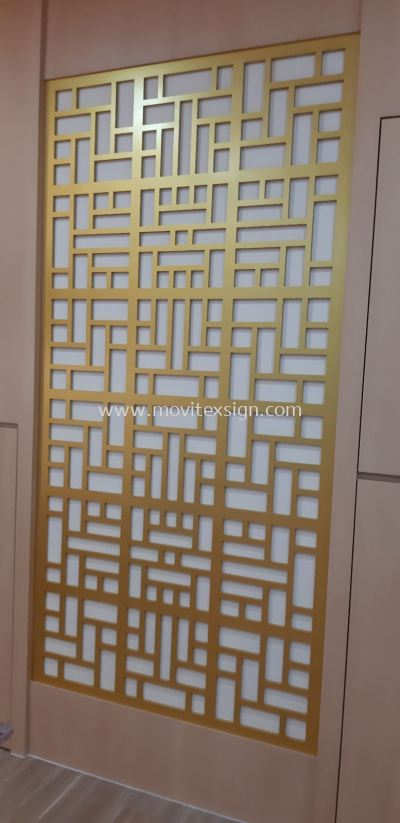 Divider board for Decoration in office by rounter cut or laser mechine