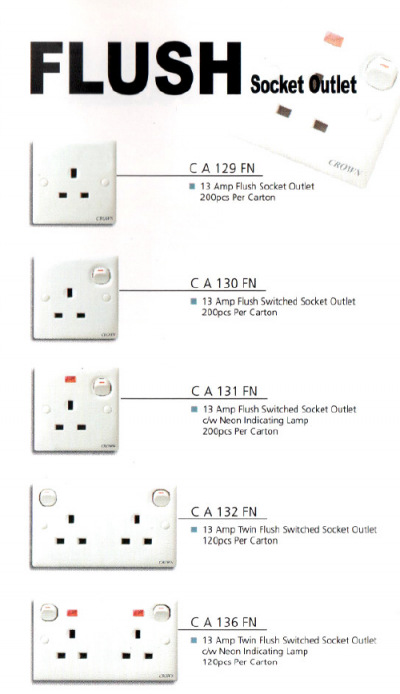 CROWN SWITCH SOCKETS