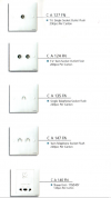 CROWN TV & TELEPHONE SATELLITE SOCKET SWITCHES