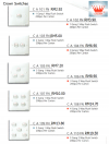 CROWN SWITCHES RANGE & PRICINGS SWITCHES