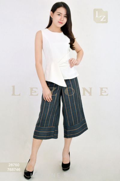 768746 STRIPED MIDI CULOTTES ��30% 40% 50%��
