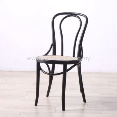 RATTAN + WOOD DINING CHAIR THONET 18�� NETTING