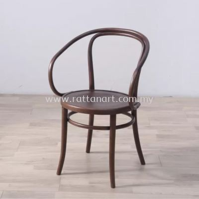 RATTAN + WOOD DINING CHAIR THONET WITH ARM 30��