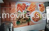 restoran wallstick posters for food n drinks advertising  3D Wall stickers /wallpaper or Digital graphics Uv print vinyl