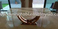 Modern Dining Set - Natural Marble Marble Dining Table