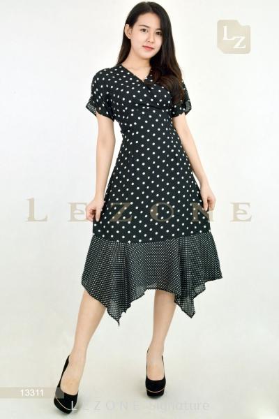 13311 Polkadot Midi Dress