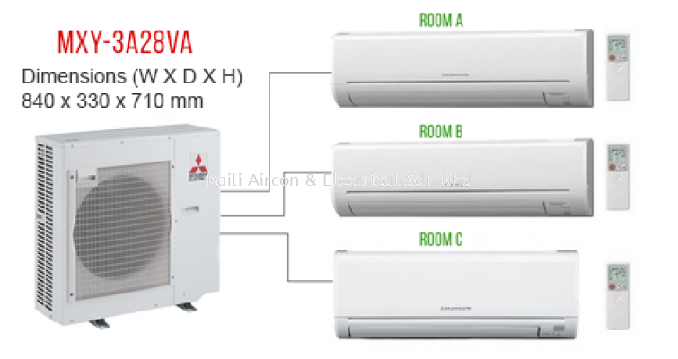 MITSUBISHI MULTI SPLIT INVERTER R410A