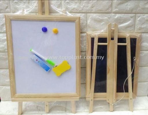 Double Face White/Black Board Set 40/50cm