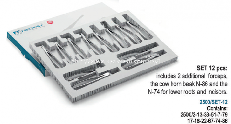 Set of Tooth Forceps 2500/SET-12