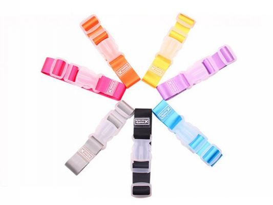 Candy Color Adjustable Buckle Luggage Belt Straps