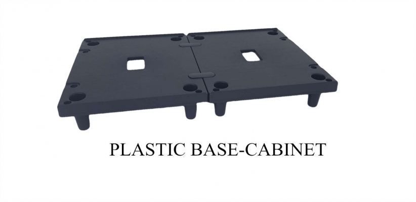 plastic base for cabinet