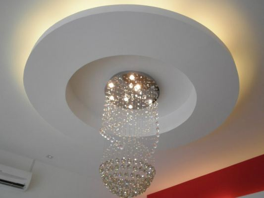 Plaster Ceiling With Light Holder - Malaysia