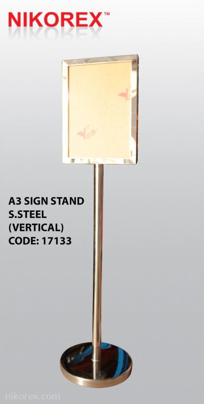 17133 - A3 Sign Stand S.Steel (Vertical)