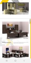 EX catalogue 1 EX Series Office Table -Wooden Leg Series