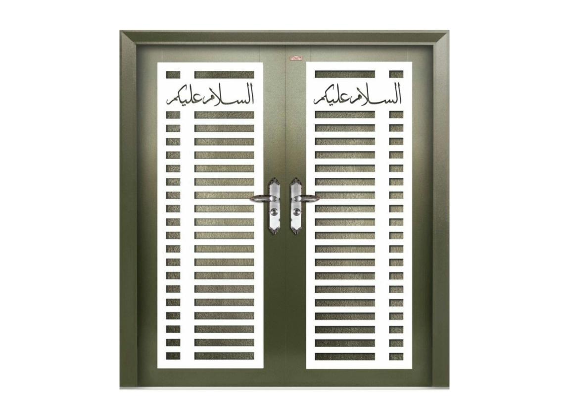 P6-W71 Pintu Security Sayap Ganda(2Xpintu) Pintu Keselamatan Contoh Pilih