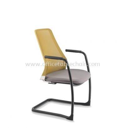 PICO VISITOR MESH BACK CHAIR WITH ARM AND EPOXY CANTILEVER BASE APC 8613N-89EA