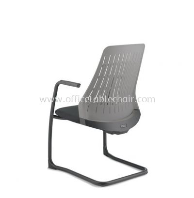 PICO VISITOR BACK PP CHAIR WITH ARM AND EPOXY CANTILEVER BASE APC 8623A-89EA