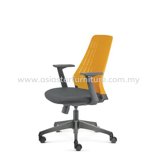 PICO PRESIDENTIAL MEDIUM BACK OFFICE CHAIR WITH NYLON BASE AND FIXED NYLON ARMREST -mesh office chair pj old town   mesh office chair pj new town   mesh office chair taman muda