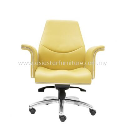 WIGAN DIRECTOR LOW BACK CHAIR C/W ROCKET ALUMINIUM BASE