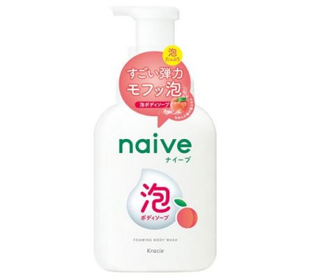 Naive Foaming Body Wash Jumbo (peach leaf extract)-500ml