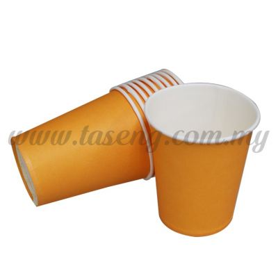 Paper Cup Plain Orange 10pcs (P-PC-POR2)