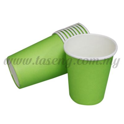 Paper Cup Plain Lime Green 10pcs (P-PC-PLG2)