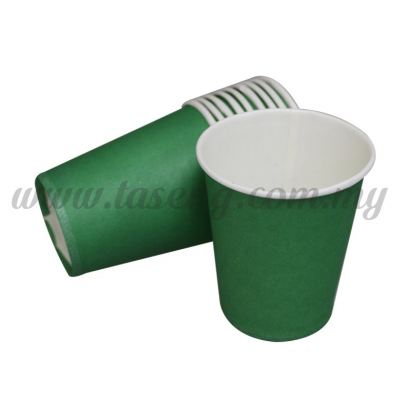 Paper Cup Plain Green 10pcs (P-PC-PGN2)