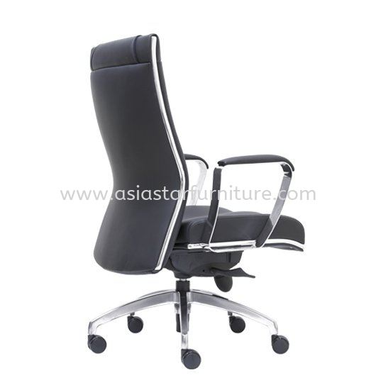 SEDIA DIRECTOR MEDIUM BACK LEATHER OFFICE CHAIR WITH CHROME TRIMMING LINE - director office chair damansara town centre   director office chair damansara heights   director office chair wangsa maju