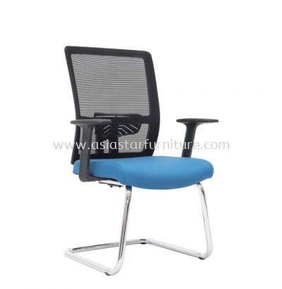 ACTON VISITOR MESH BACK CHAIR C/W CHROME CANTILEVER BASE