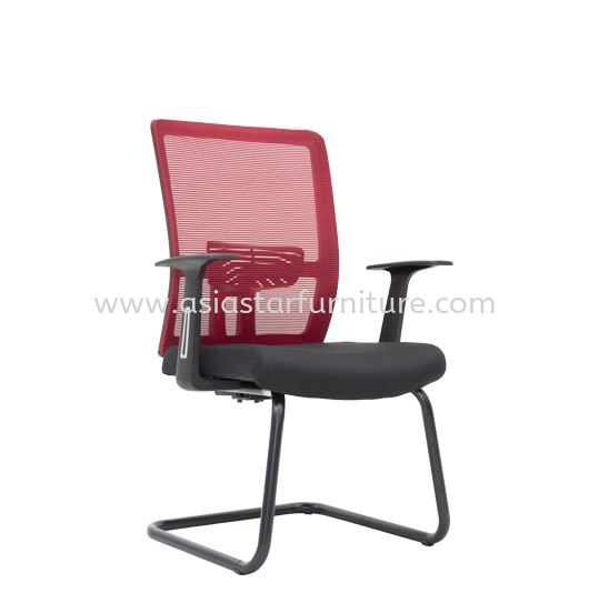 ACTON VISITOR MESH BACK CHAIR C/W EPOXY BLACK CANTILEVER BASE