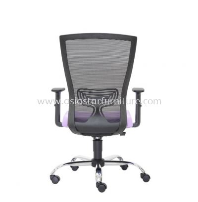 MALTON MEDIUM BACK MESH CHAIR C/W CHROME METAL BASE