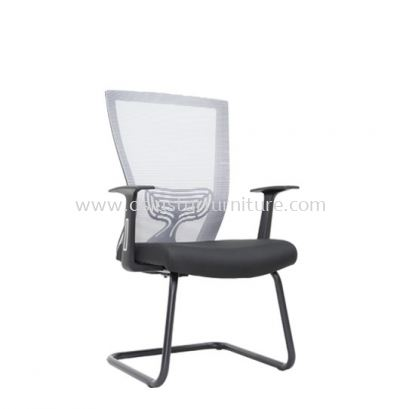MALTON VISITOR MESH BACK CHAIR C/W EPOXY BLACK CANTILEVER BASE