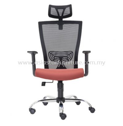 MALTON HIGH BACK MESH CHAIR C/W CHROME METAL BASE