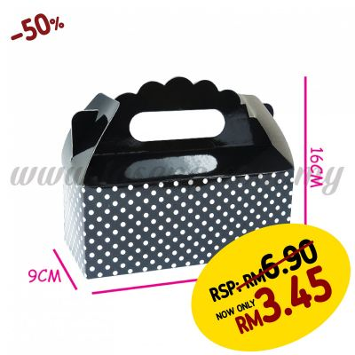 Cake Box -Black 1pack *6pcs (CB-BK)