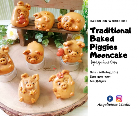 Traditional Baked Piggies Mooncake Workshop