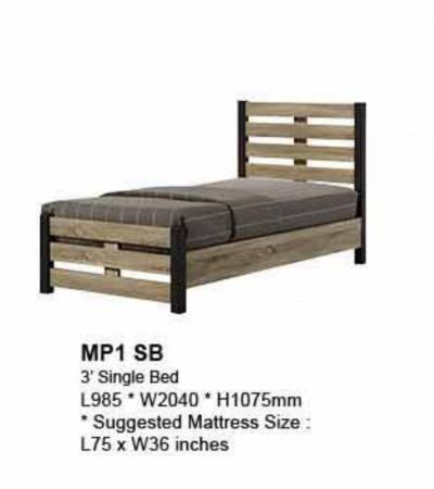 MP1-SB wooden single bed