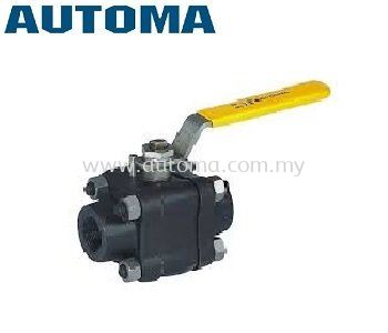 3-PIECE BALL VALVE FORGED STEEL BODY #A5BA1