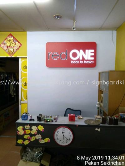 redone 3D LED conceal box up indoor signage at Kuala Selangor