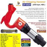 GISON Air Chipping Hammer GP-892H (2500 bpm, Hex.)